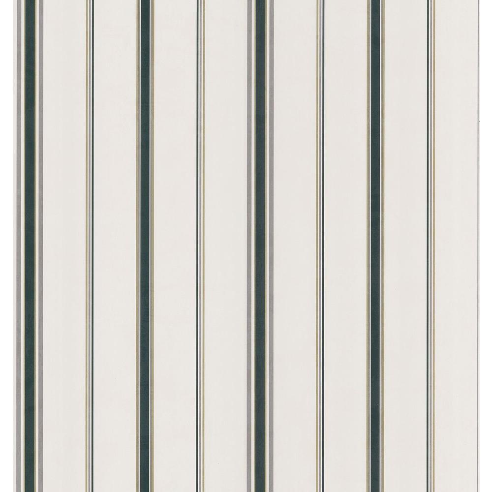 Northwoods Lodge Off-White Stripe Wallpaper Sample
