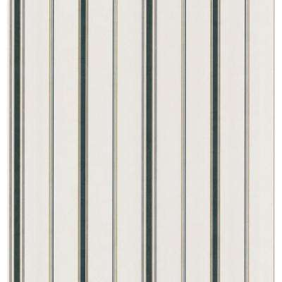 Northwoods Lodge Off-White Stripe Wallpaper Sample