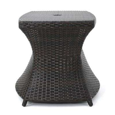 Adrian Multibrown Wicker Outdoor Side Table