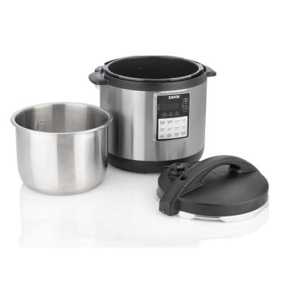 LUX Edge 6 Qt. Stainless Steel Electric Multi-cooker with America's Test Kitchen Multi-cooker Perfection Cookbook