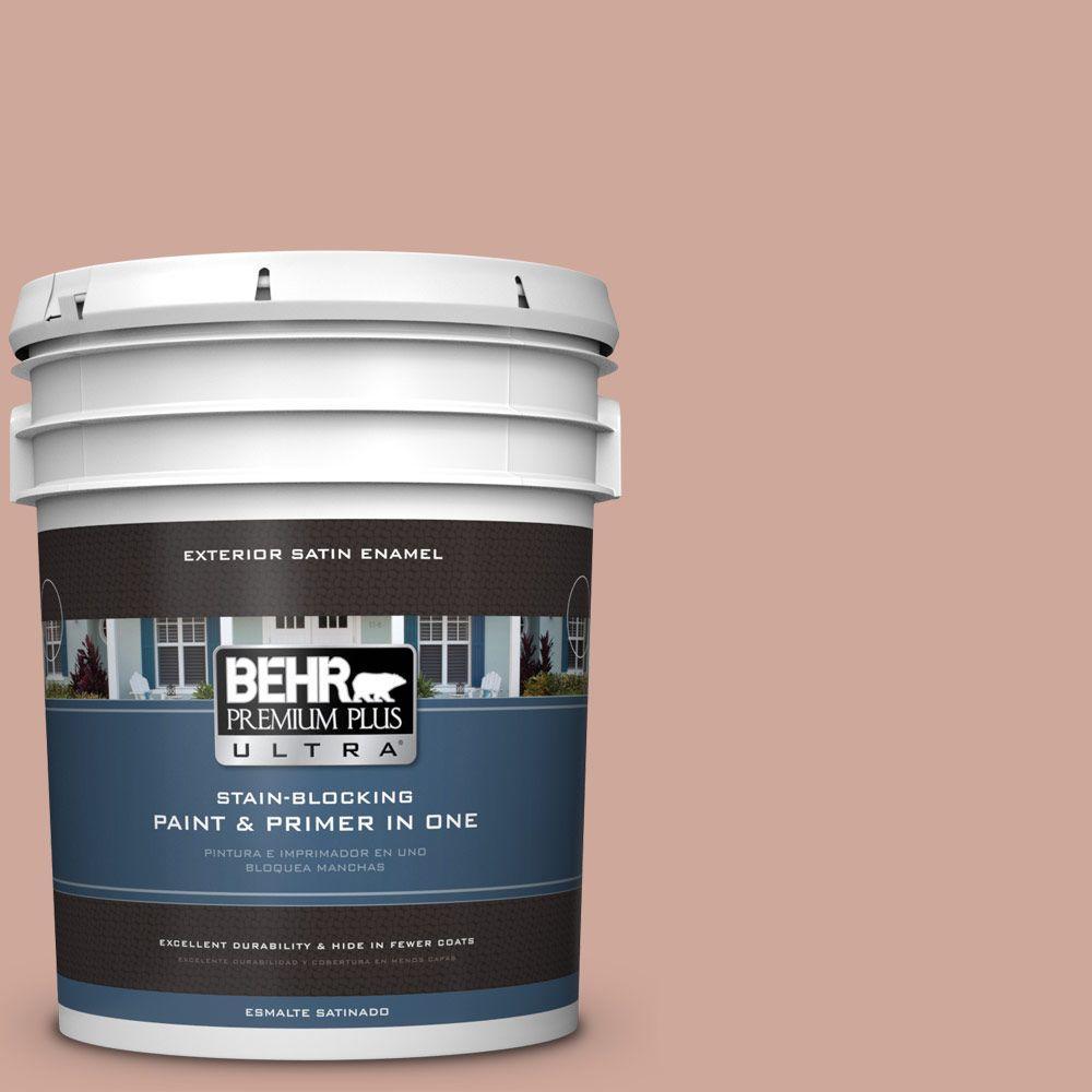 BEHR Premium Plus Ultra 5-gal. #PPU2-8 Pink Ginger Satin Enamel Exterior Paint