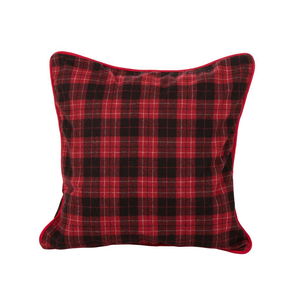 18 in. H Plaid Cushion Pillow Cover