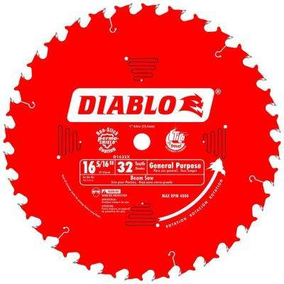 16-5/16 in. x 32-Tooth x 1 in. Arbor General Purpose Saw Blade for Beam Saws