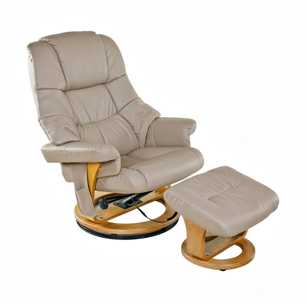 This Review Is From:Beige 8 Motor Massage Recliner With Heat And Ottoman.  Beautiful Chair ...