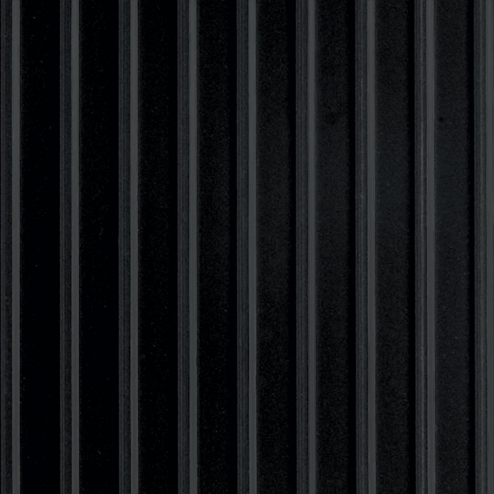 Rib 7.5 ft x 17 ft Midnight Black Vinyl Garage Flooring Cover and Protector