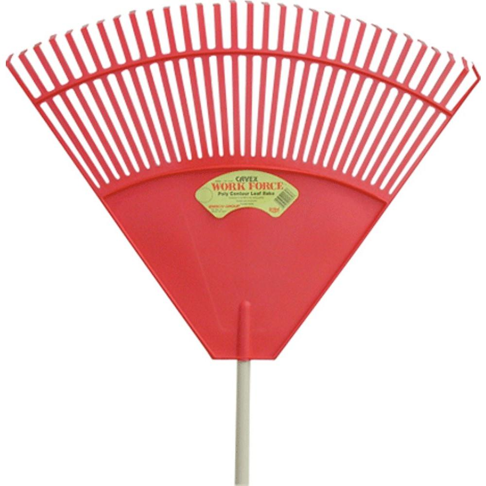 Cavex 32 in. 32-Tine Red Poly Leaf Rake