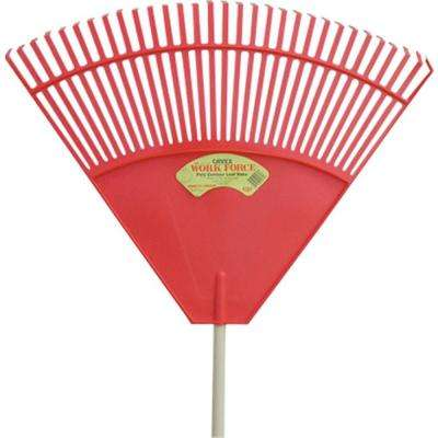 32 in. 32-Tine Red Poly Leaf Rake