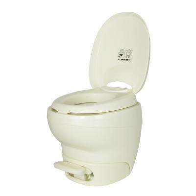 Aqua-Magic High Profile Bone Bravura Permanent RV Toilet