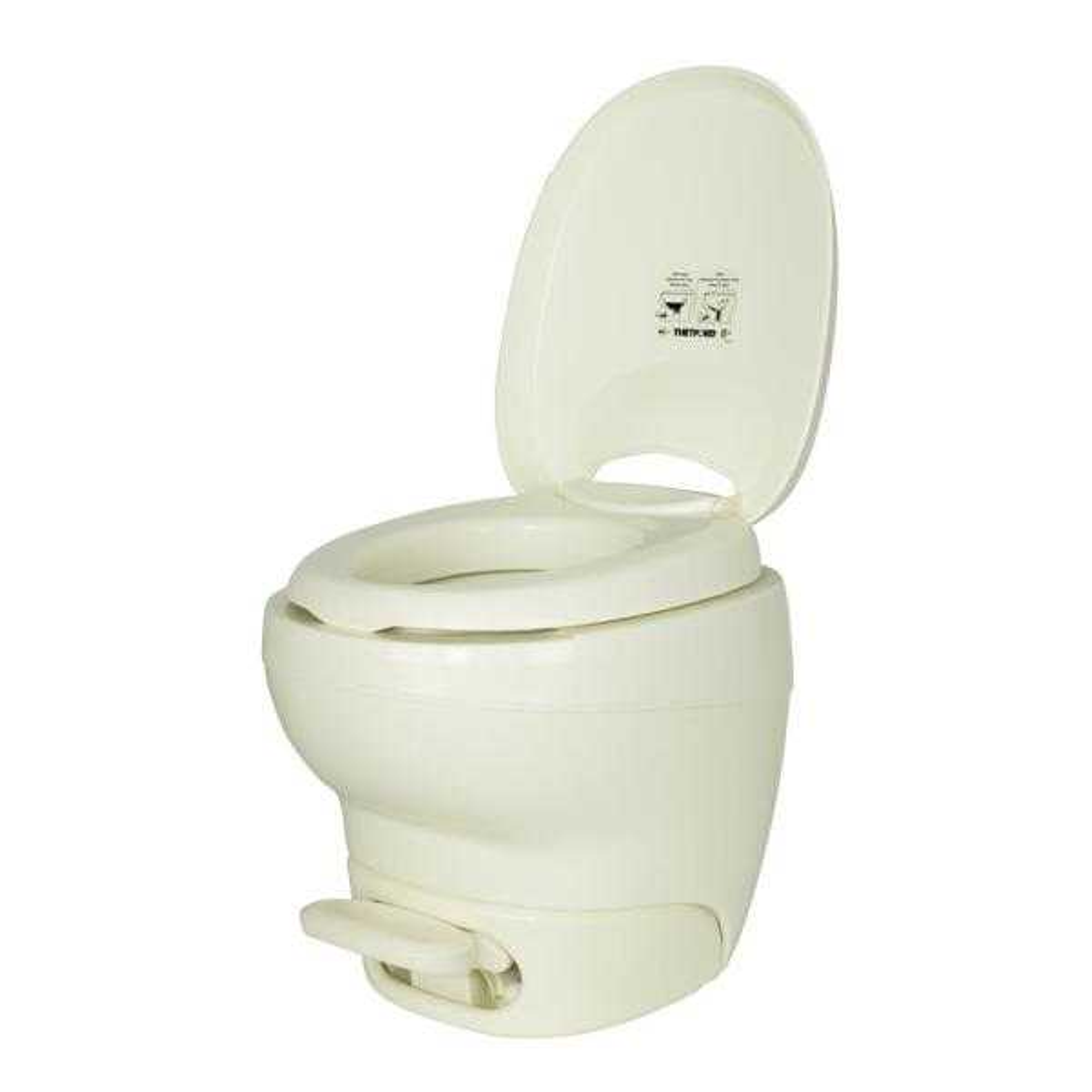 Aqua-Magic High Profile Bone Bravura Permanent RV Toilet