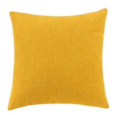 Yellow Outdoor Decorative Pillow