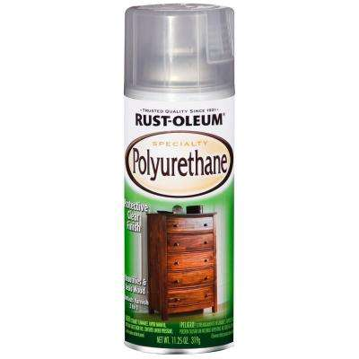 11.25 oz. Gloss Clear Polyurethane Spray (6-Pack)