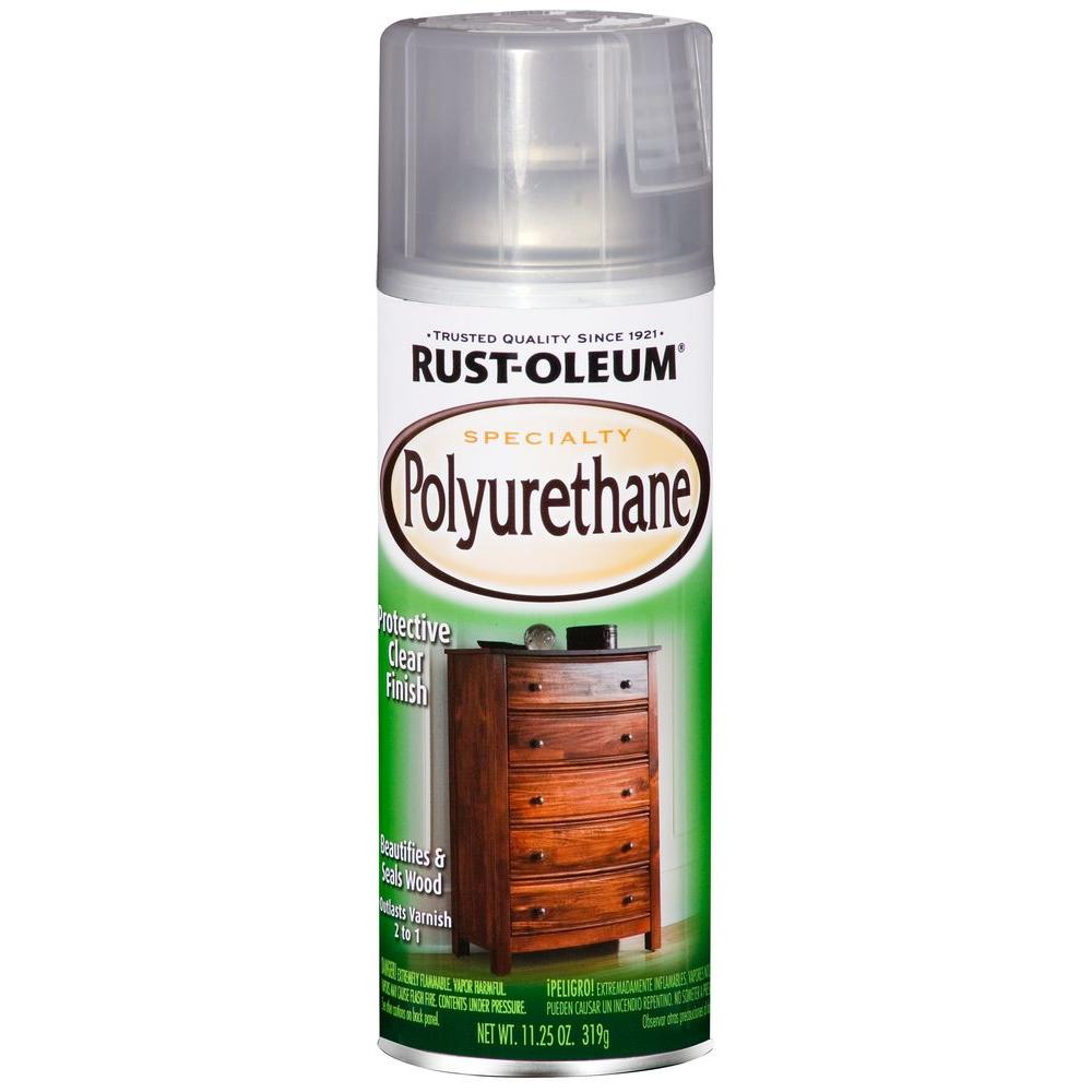 Rust-Oleum Specialty 11.25 oz. Gloss Clear Polyurethane Spray (6-Pack)