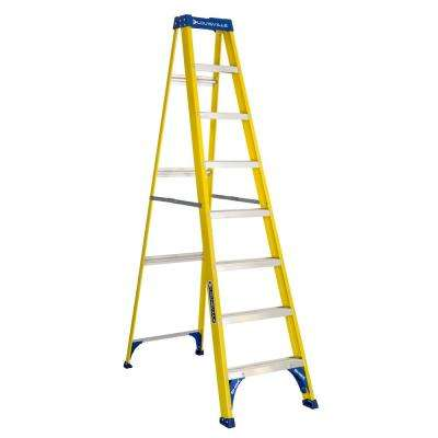 8 ft. Fiberglass Step Ladder with 250 lbs. Load Capacity Type I Duty Rating