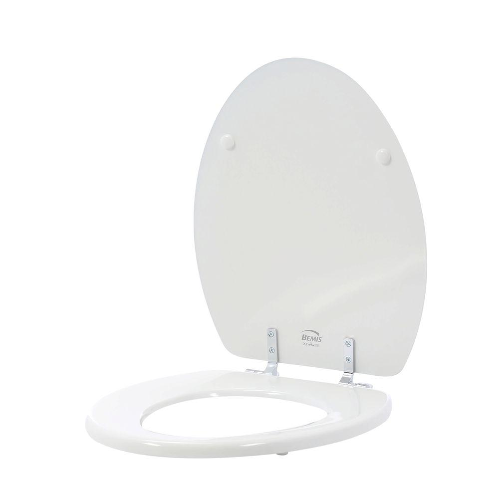 Bemis Sta Tite Elongated Closed Front Toilet Seat In White