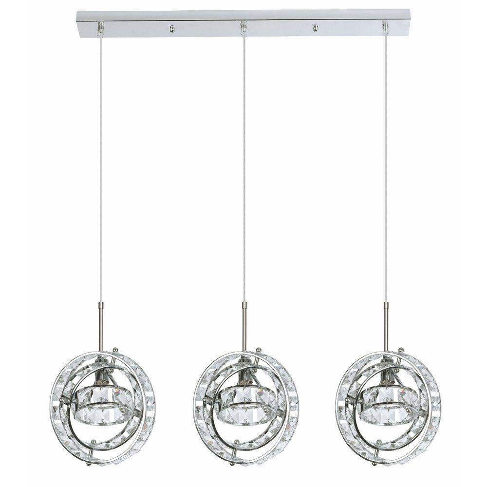 Filament Design Catherine 3-Light Polished Chrome Multi-Light Pendant