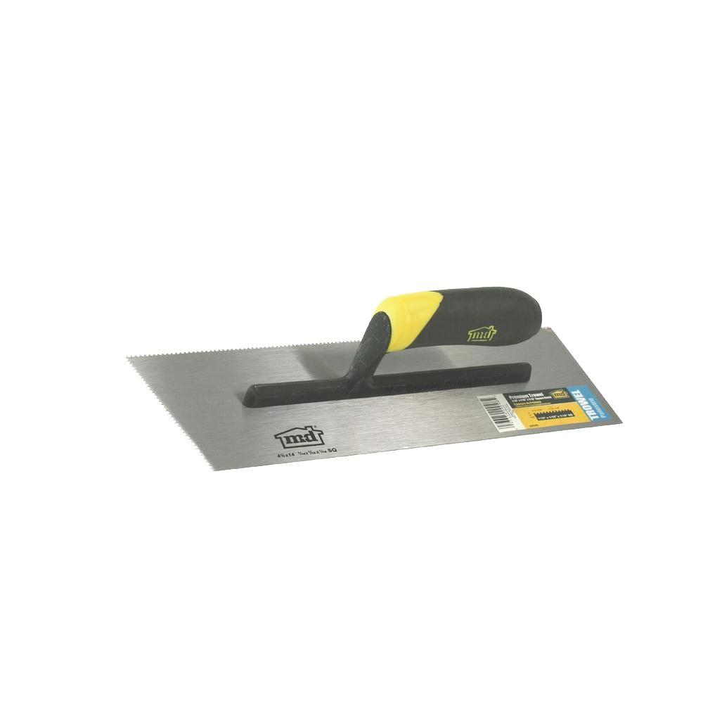 11 in. x 1/16 in. x 1/16 in. Square-Notch Flooring Trowel