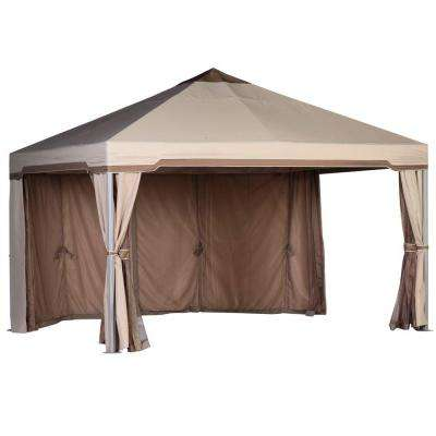 Seychelles 13 ft. x 13 ft. Cabin-Style Family Room Garden House Gazebo