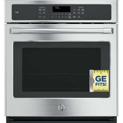 27 in. Single Electric Smart Wall Oven with Convection Self-Cleaning and Wi-Fi in Stainless Steel