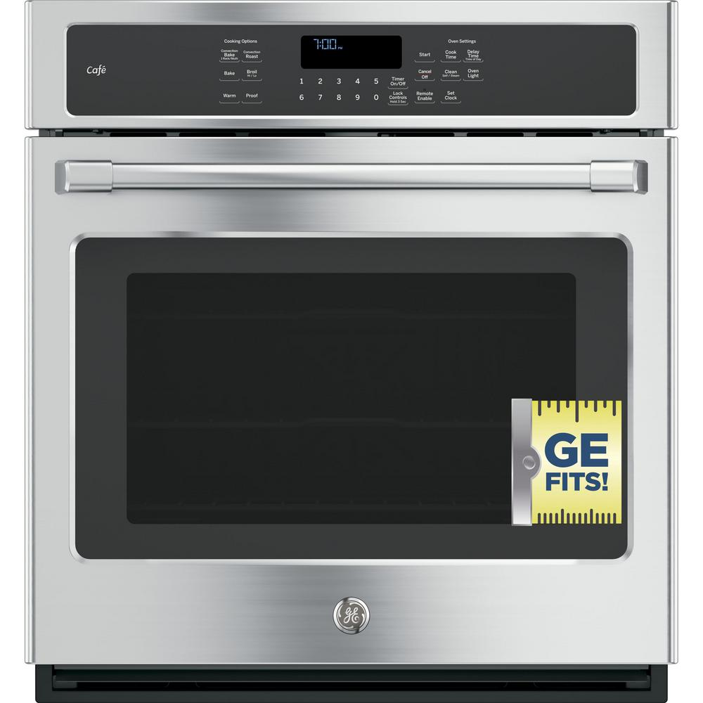 27 in. Single Electric Smart Wall Oven Self-Cleaning with Convection and
