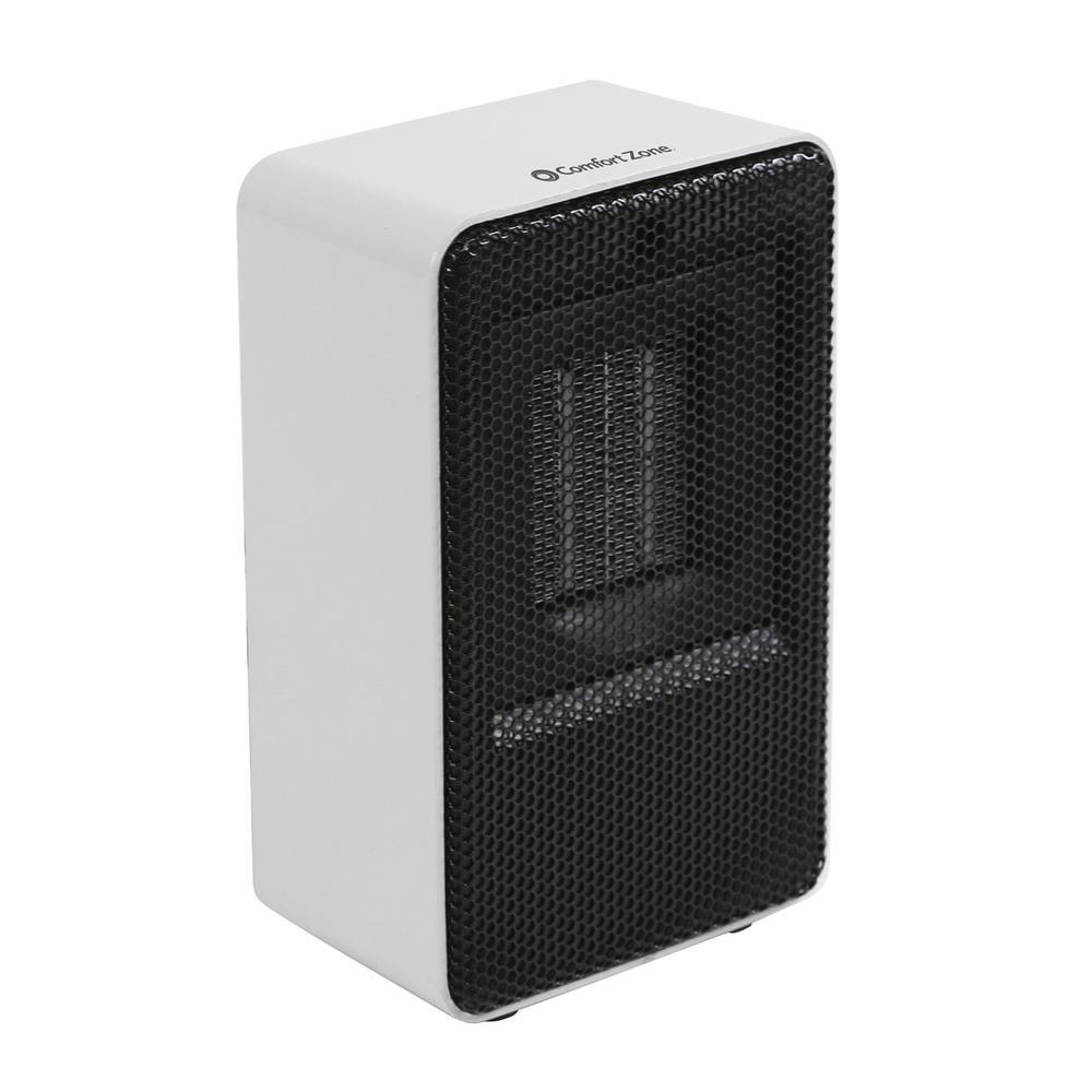 Personal Electric Desktop Ceramic Space Heater, White