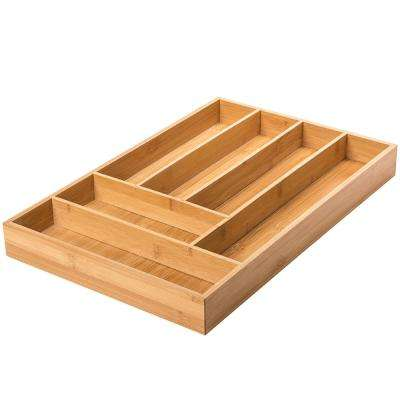 Brown Bamboo Cutlery Tray