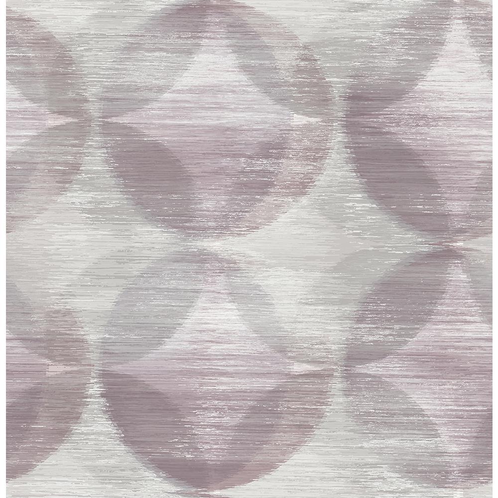 A-Street 8 in. x 10 in. Alchemy Purple Geometric Wallpaper Sample