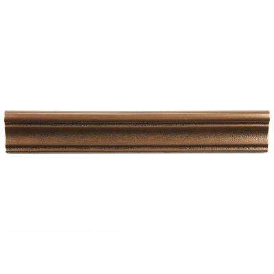 Contempo Onda Bronze Moldura 2 in. x 12 in. Mixed Material Wall Trim Tile