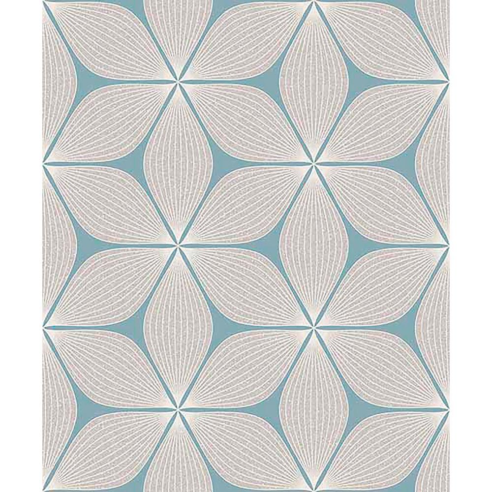 Coloroll 56.4 sq. ft. Vibration Cream Geometric Wallpaper