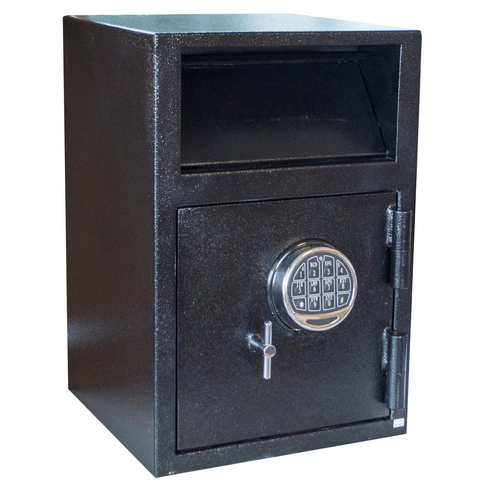 1.89 cu. ft. Steel Deposit Drop Safe with Electronic Lock Black