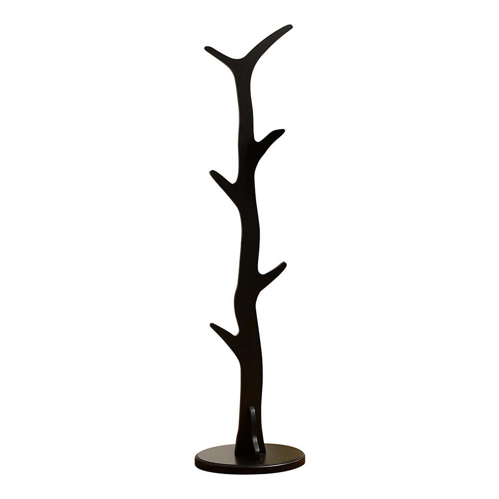 88a71d83870f Kings Brand Furniture Black Wood 6-Hook Tree Coat and Hat Stand ...