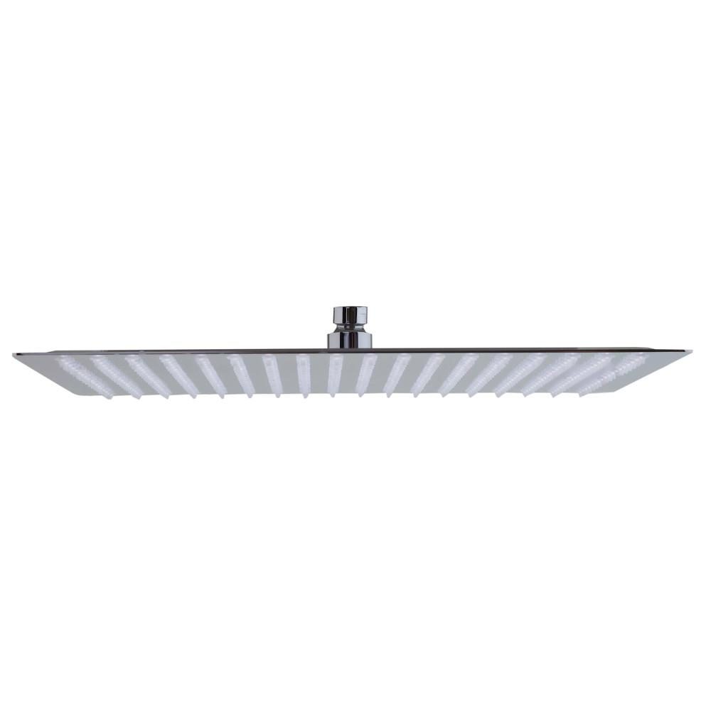 ALFI BRAND Square Ceiling Mount Rain Ultra Thin 1-Spray 16 in. Fixed Showerhead in Stainless Steel