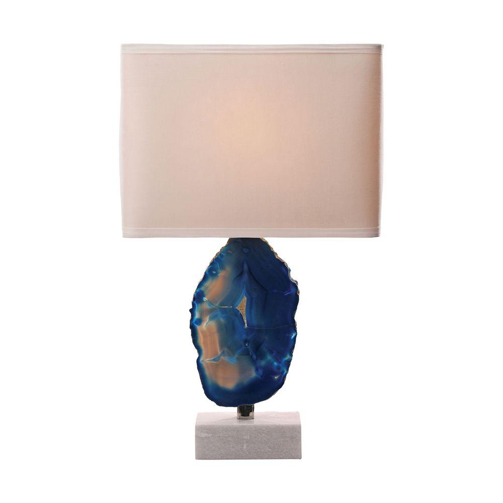 Titan Lighting Minoa 28 In Blue Agate And Marble Table Lamp Tn