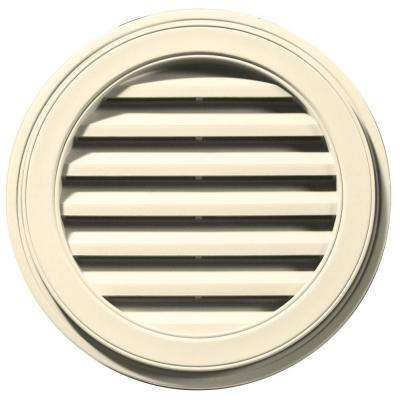 22 in. Round Gable Vent in Cream