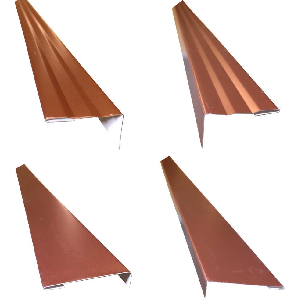 2.5 x 2.25 x 85 in. Complete Aluminum Metal Brickmold and Jamb Door Trim Cover Kit-72 in. Door w/Brick, Royal Brown