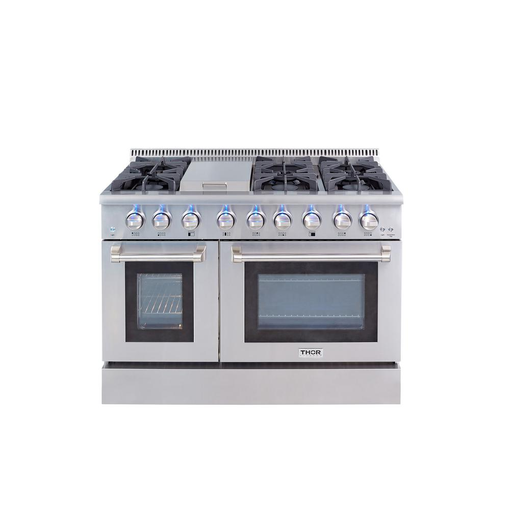 48 in. 6.7 cu. ft. Professional Gas Range in Stainless Steel