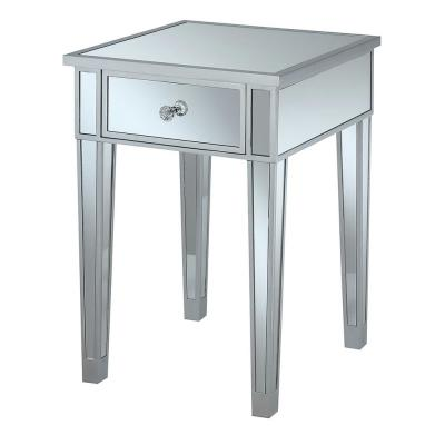 Gold Coast Silver Mirrored End Table