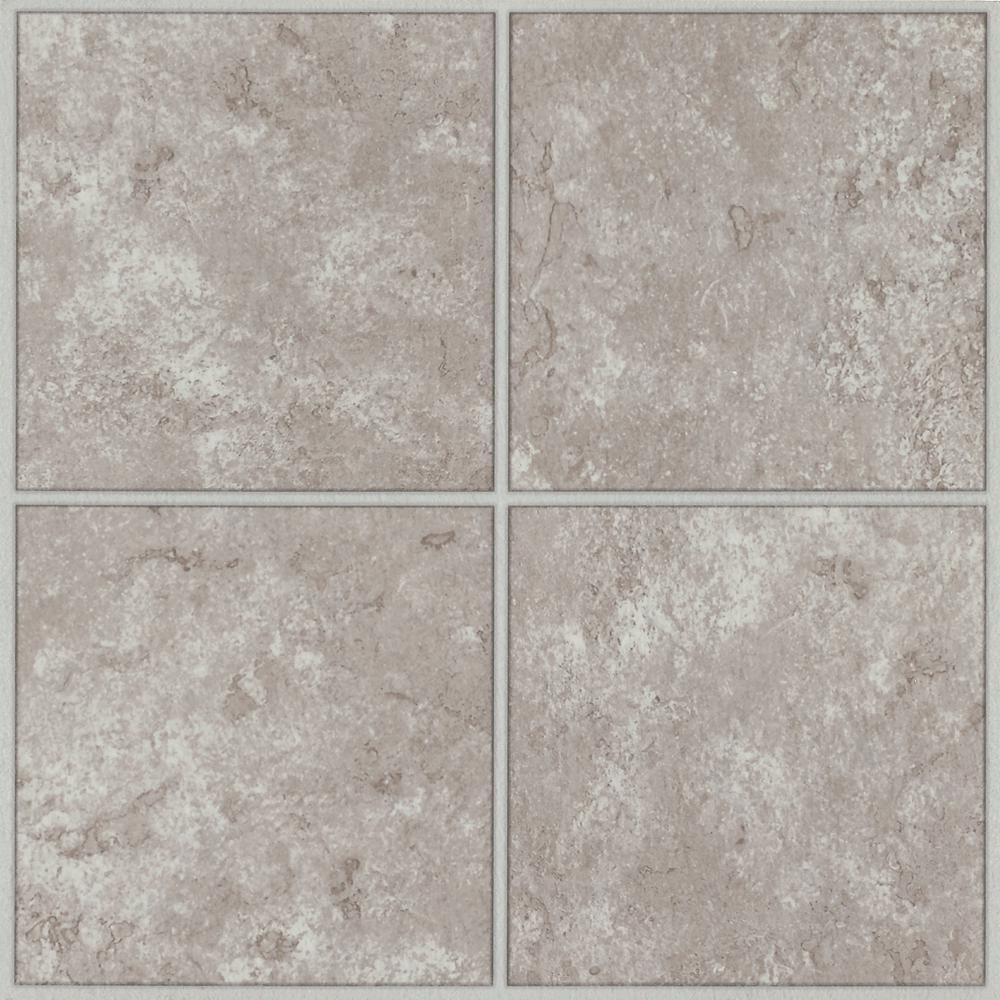 Armstrong columbia court white taupe 12 in x 12 in residential peel and stick