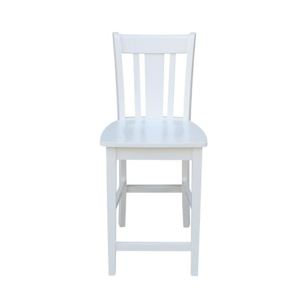 San Remo 24 in. H Pure White Counter Stool
