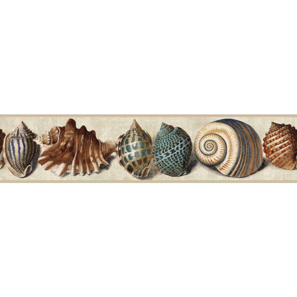 York Wallcoverings Nautical Living Shell Wallpaper Border