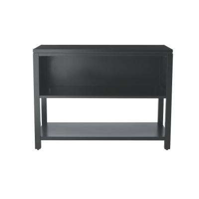 Craft Space 42 in. W 2-Shelf Storage Console in Silhouette