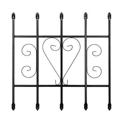 24 in. x 24 in. Su Casa Black 5-Bar Window Guard
