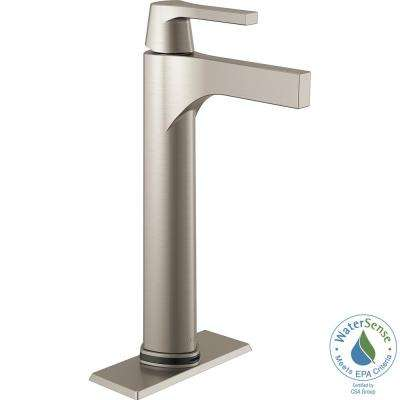 Zura Single Hole Single-Handle Vessel Bathroom Faucet with Touch2O.xt Technology in Stainless