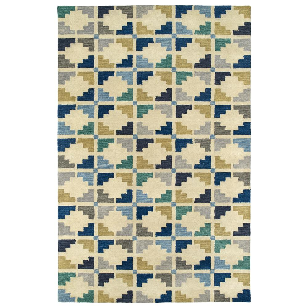 Art Tiles Blue 5 ft. x 7 ft. 9 in. Area