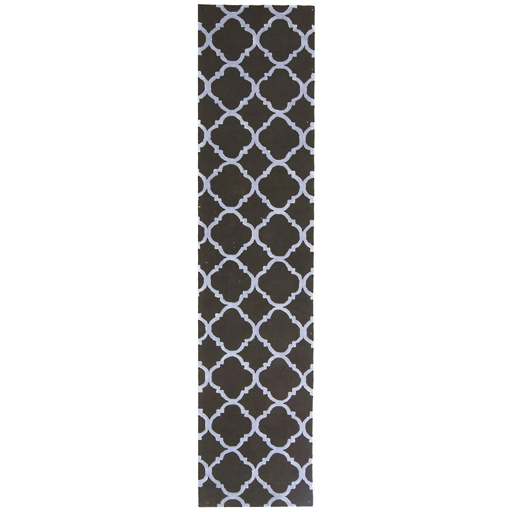 Safavieh Newport Black/Blue 2 ft. 3 in. x 10 ft. Runner