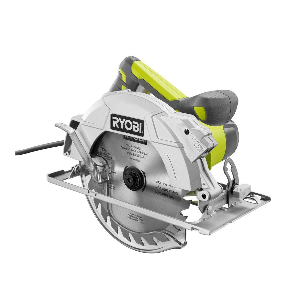 Ryobi 15 amp 7 14 in circular saw with laser csb144lzk the ryobi 15 amp 7 14 in circular saw with laser keyboard keysfo Image collections