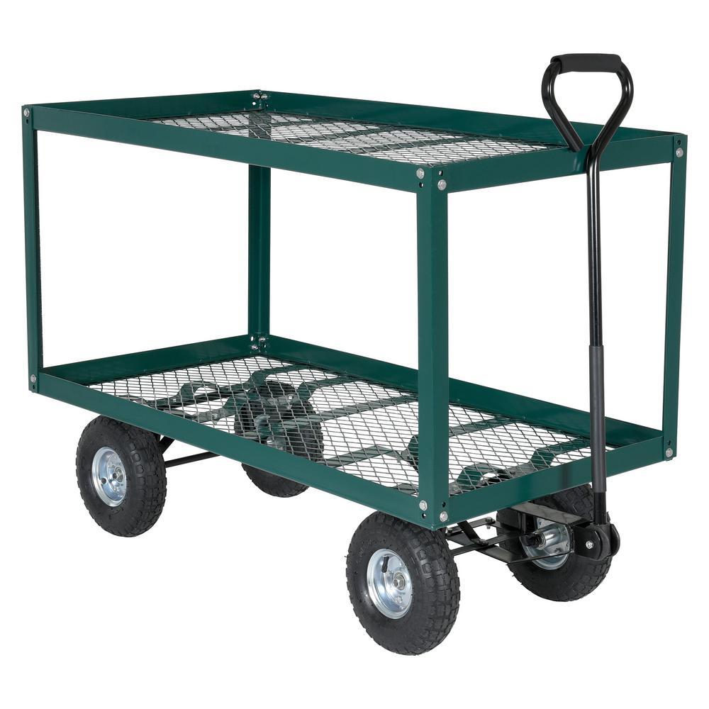Vestil 300 lb. 48 in. x 24 in. Landscape Cart 2 Shelf