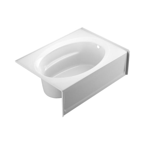 PROJECTA 60 in. x 42 in. Acrylic Right Drain Rectangular Apron Front Soaking Bathtub in White