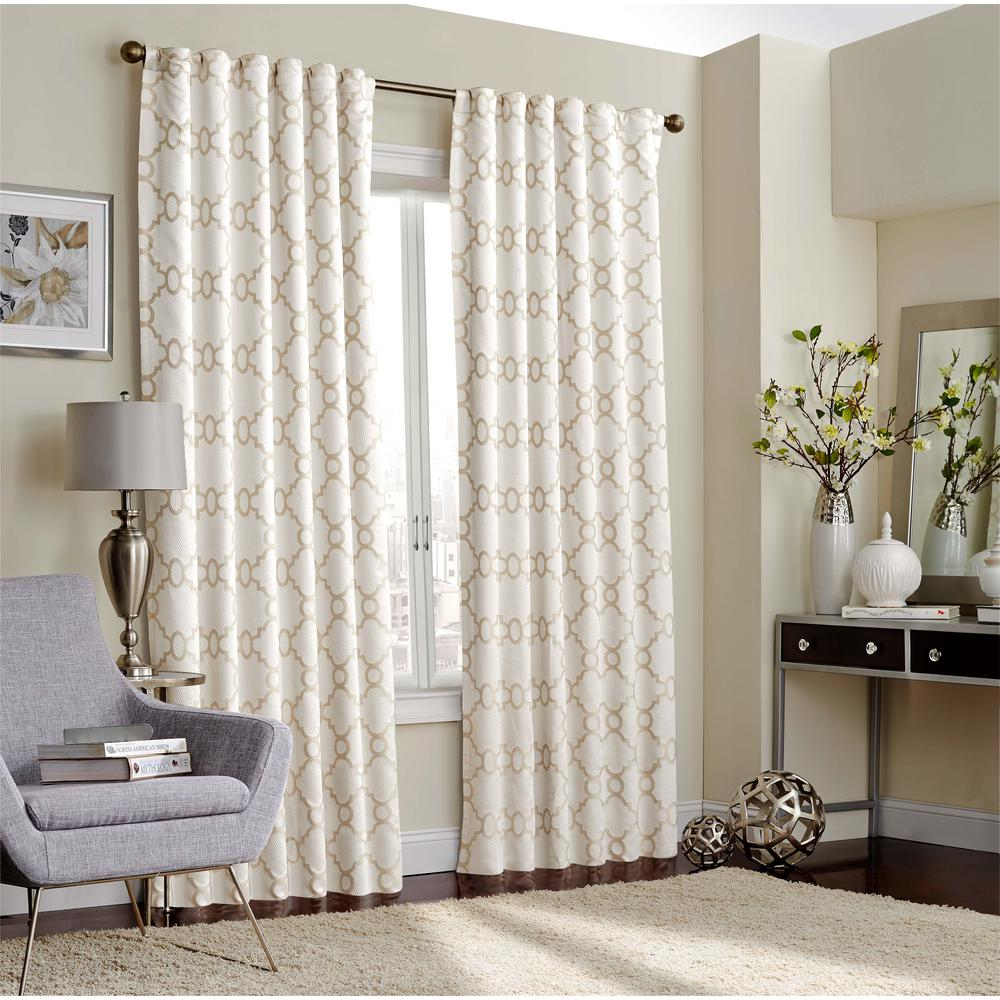Eclipse Correll Blackout Window Curtain Panel in Ivory - 52 in. W x 108 in. L