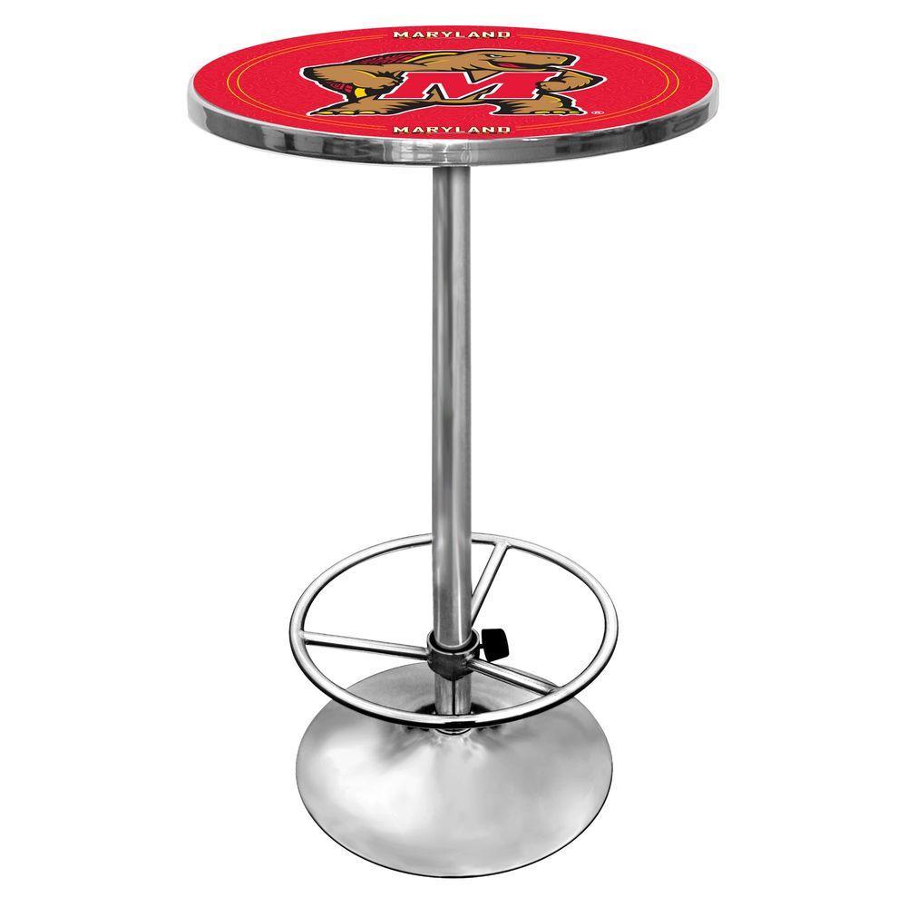Maryland University Chrome Pub/Bar Table