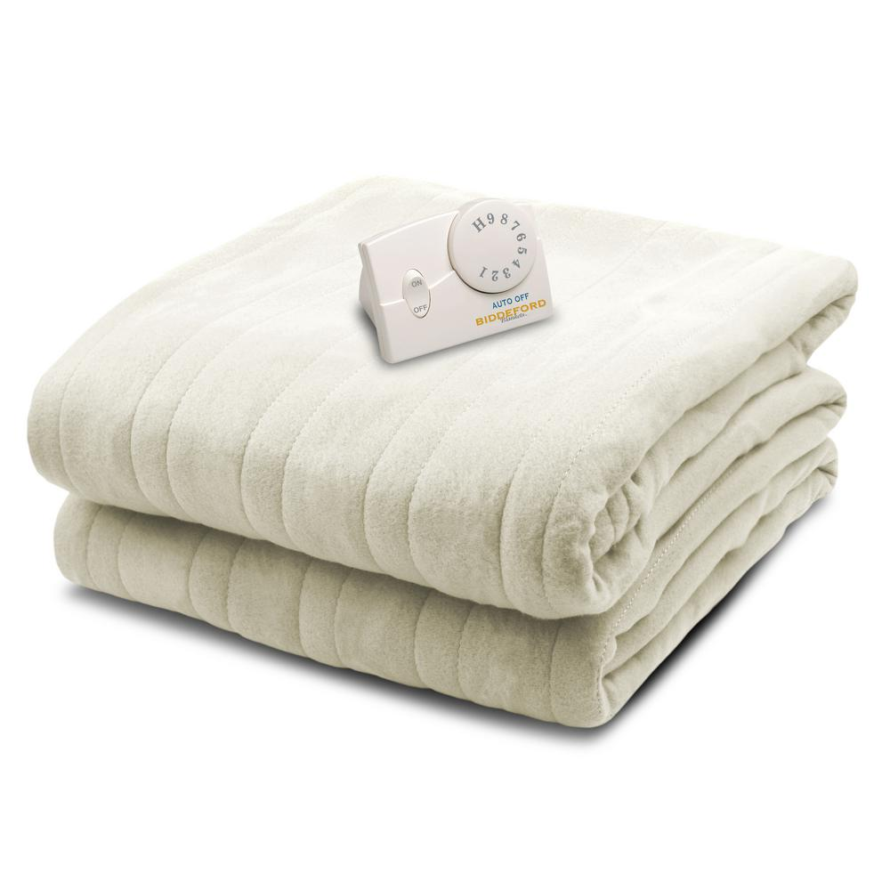 1000 Series Comfort Knit Heated 62 in. x 84 in. Natural T...